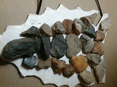 """Collectable Lot 20+ Native American stone tools abt 1"""". very old thumb scrapers."""