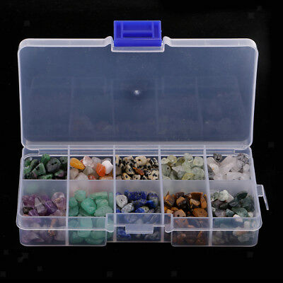 1 Box Natural Tumbled Stone Chip Gemstone Beads with 1mm Hole Jewelry Making