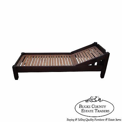 Antique Stickley Brothers Quaint Mission Oak Fainting Couch