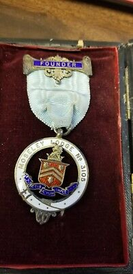 Masonic Founder Medal Moseley Lodge 3105