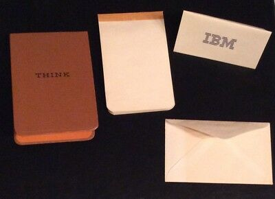1960s Vintage IBM Think Employee notepad with original paper refill and IBM Card