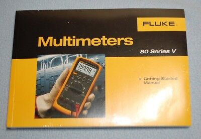 Fluke 80 Series V Multimeters Manual New In Plastic Cd Included
