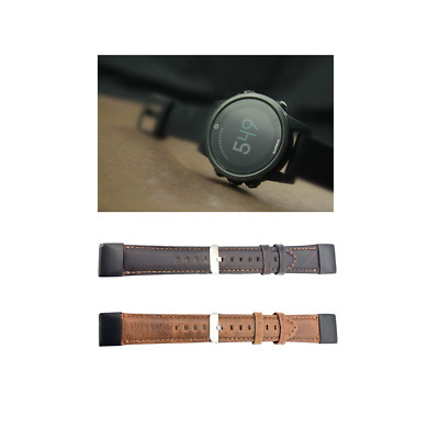 Quick Release Genuine Luxury Leather Strap Band For Garmin Fenix 5/ Fenix 5X