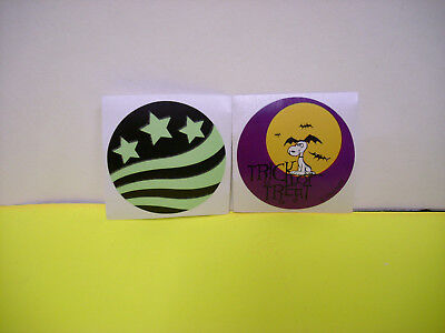 20 lot GLOW DARK stickers charlie brown peanuts uncle sam hat vintage style
