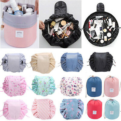 Toiletry Makeup Cosmetic Bag Travel Pouch Drawstring Portable Quick Pack Storage