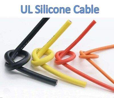 12AWG 3.4mm² UL Silicone Cable Flexible Soft Wire 680/0.08mm RC Cable 200V 600°C