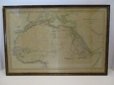 Map Of North Africa - Charles Smith - 1800's - Engraved By J. Pickett - Antique