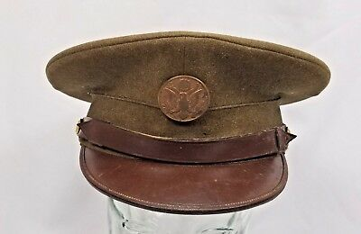 Us Army 1936 Philadelphia Uniform Co. Enlisted Man Ww Ii  Cap Hat 6 7/8 Woolen