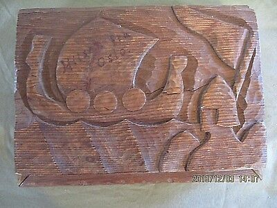 Vintage 1945 Hand Carved, Hand Made Box, Signed By Maker And Location, Primitive