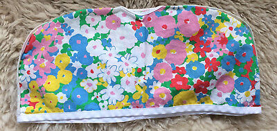VTG 60s 70s TOASTER COVER LARGE FLOWERS floral kitsch appliance cotton hippie