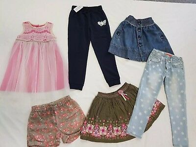 Girls Size 5 & 6 Clothing Bundle Bulk Lot Dress Skirts Pants 6 Items EUC