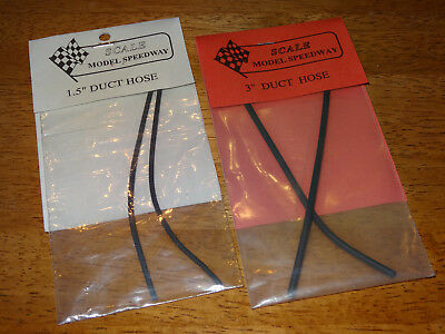 "Scale Motor Speedway 1.5"" 3"" black duct hose lot"