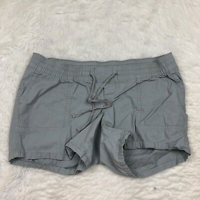 Old Navy Maternity Shorts Size M Gray Cotton Pull On Waist