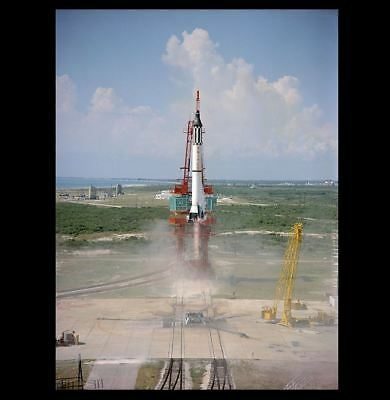 Freedom 7 Launch PHOTO FIRST US Manned Space Flight with Alan Shepard Astronaut
