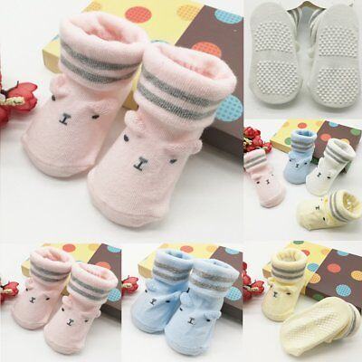Newborn Slipper Shoes Boots Anti-slip Socks Cartoon for Baby Girl Boy 0-6Months