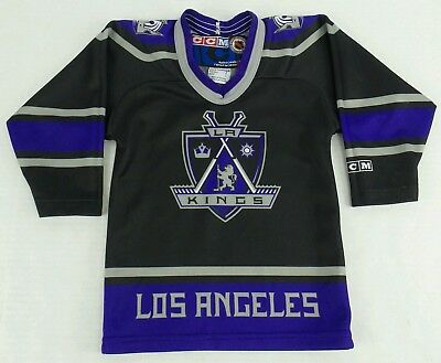 7c354033299 VINTAGE LOS ANGELES LA Kings Hockey Jersey Sweater S Small Black ...