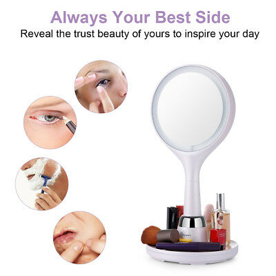 7x Magnifying Makeup Mirror Beauty Stand Double Side w/LED Light Cosmetic Mirror