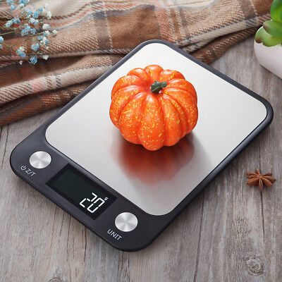 10kg/1g Stainless Steel Digital LCD Electronic Kitchen Cooking Food Scales U7K4