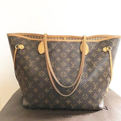 091d972aa1a65 AUTHENTIC LOUIS VUITTON Monogram Neverfull MM Tote Bag Includes Pouch -   985.00