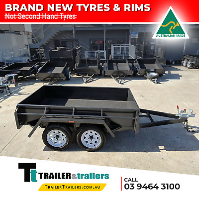 "8x5 TANDEM AXLE HEAVY DUTY BOX TRAILER | 15"" HIGH SIDES 