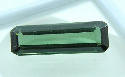 11.95 Ct GGL Certified  Emerald Cut Green Color Natural Tourmaline Gem Ring Size