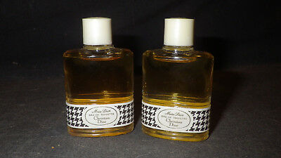 Lot of two full vintage bottles of Miss Dior