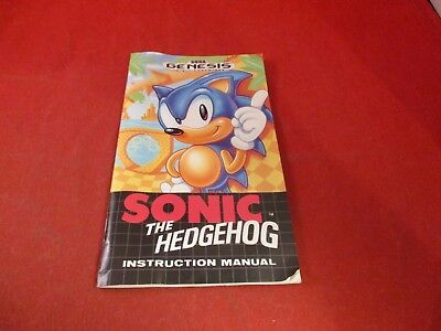 Sonic the Hedgehog 1 Sega Genesis Instruction Manual Booklet ONLY