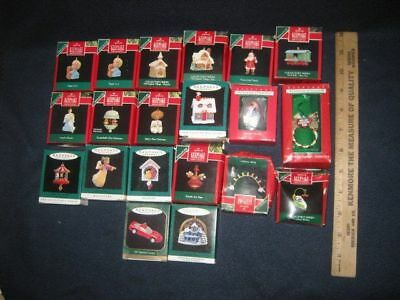 20 HALLMARK Keepsake MINIATURE Ornaments with Boxes