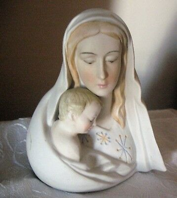 Vintage Ardalt Art Ware Blessed Mother Baby Jesus Lenwile China  Made in Taiwan
