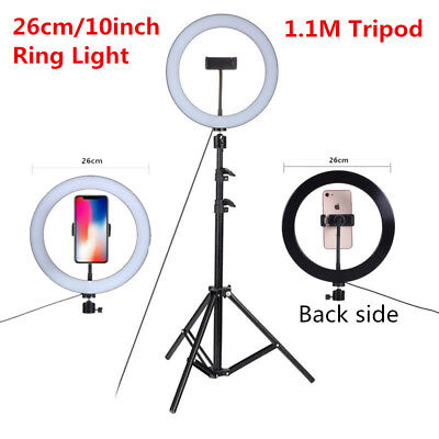 10'' Studio Live Led Ring Light 5500K For Phone Selfie Light Photograph + Triopd