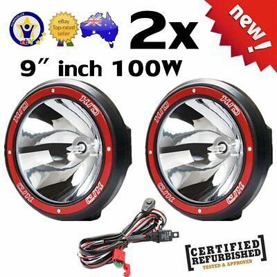 "Pair 9"" inch 100W HID Driving Lights Xenon Spotlights Off Road 4x4 Truck 12V AU"