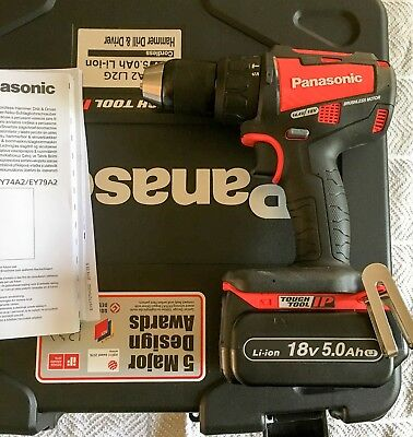 Panasonic Ey79A2Lj2G31R 18V Brushless Combi Drill (Design Edition) With 2X5.0Ah