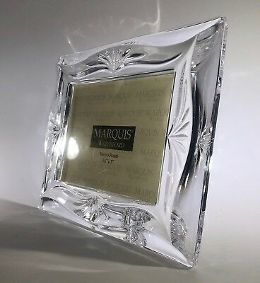"New Art Deco Marquis Waterford Crystal 3 1/2"" x 5"" Picture Frame"