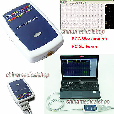 ECG Workstation examination System 12-lead Resting PC Software base EKG Machine