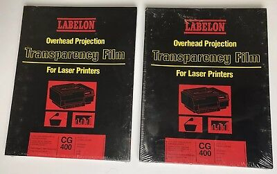 """Labelon Overhead Projection Transparency Film CG-400, 8.5x11"""", 100 Sheets, 4 mil"""
