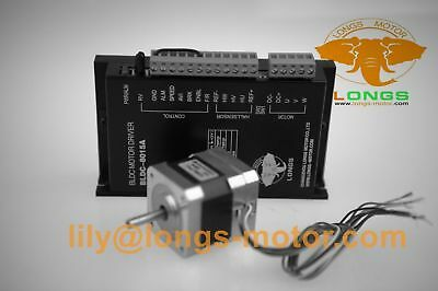 US FREE!1Axis 57BLF01 Brushless DC Motor 63W 24V 3000RPM BLDC-8015A CNC Router