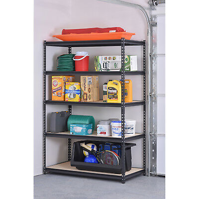 "heavy duty 5 tier steel shelving storage rack adjustable unit 48""W x 24""D x 72""H"