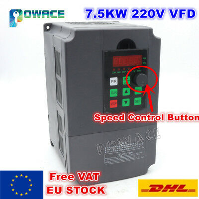 【EU】7.5KW 220V Variable Frequency Drive Inverter VFD CNC Speed Control 3 phase