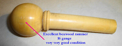 Rare Antique French Excellent Boxwood Rammer 16 Gauge