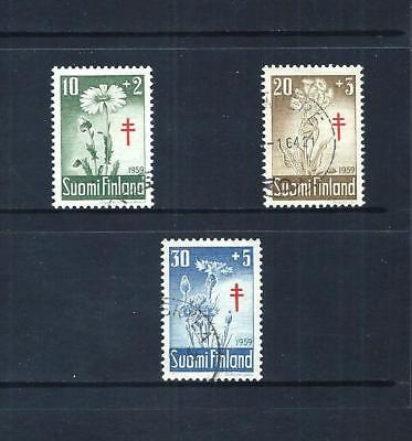 FINLAND _ 1959 'TUBERCULOSIS FUND' SET of 3 _ used  ____(561)