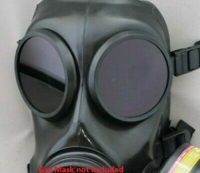 Fm12  Lenses For Gas Mask  Respirator - Black Outserts  Genuine