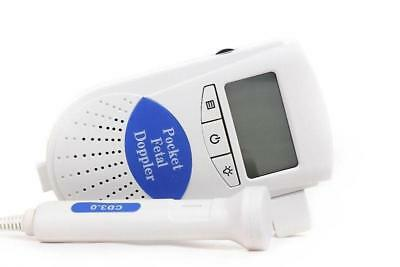 Healthcare handheld Fetal heart Doppler monitor 3MHz LCD Screen *CE Proved