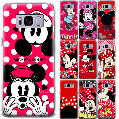 Cartoon Mickey&Minnie Mouse Cute Pattern Phone Case Cover For iPhone Samsung LG