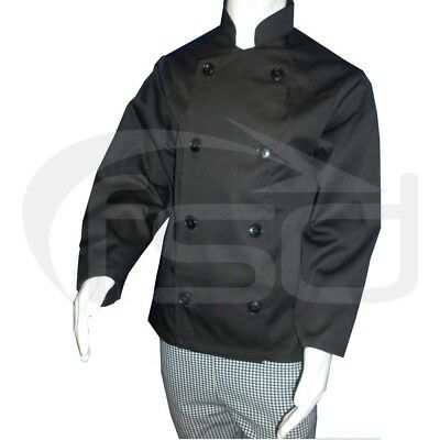 Black - Kids Chef's Jacket / Childs Chef Coat (Various Ages)