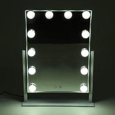 12 LED Bulb Hollywood Vanity Makeup Mirror with Lights Dimmer Girls Tabletops