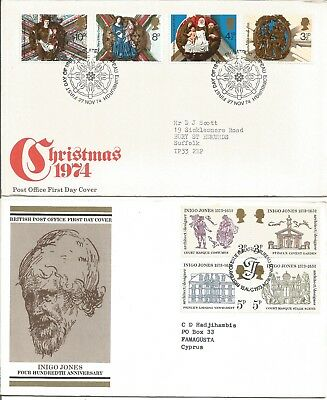 Ten Assorted GB Post Office First Day Covers With Special Postmarks Z5688