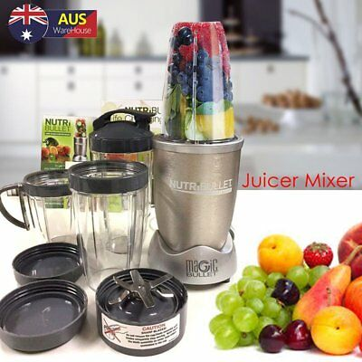 Pro 900W Juicer Mixer Vegetable Blender Extractor 11 Pieces Set AU