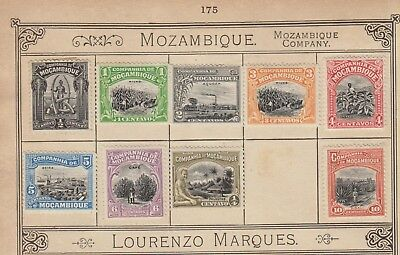 MK176 MOZAMBIQUE STAMPS FROM LINCOLN 13th EDITION ALBUM