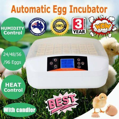 24/48/56/96 Egg Incubator Fully Automatic Digital LED Turning Duck Poultry Q1Q