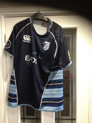 Vintage Cardiff Blues Rugby Union Shirt Size 2xl